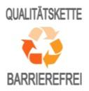 Logo der Qualitätskette Barrierefrei