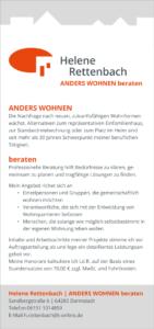 """Flyer """"Helene Rettenbach – ANDERS WOHNEN beraten"""
